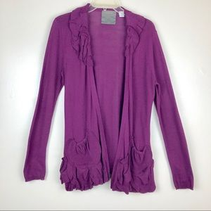 Anthropologie Guinevere Plum Delicate Drafts